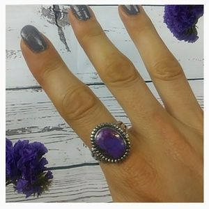 💜Purple Mojave Turquoise Ring